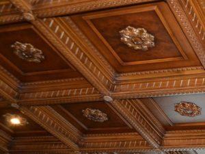 Деревянные потолки на заказ. Мозаика